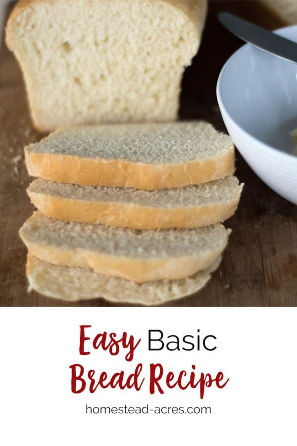 Basic White Bread Recipe. This is our family favorite homemade white bread recipe. This easy bread recipe also makes great dinner rolls and hamburger buns. #recipes #bread #breadmaking