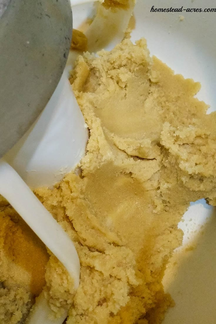 Creamed Butter and Brown Sugar | www.homestead-acres.com