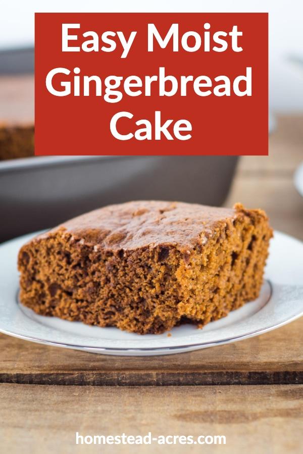 Easy Moist Gingerbread Cake