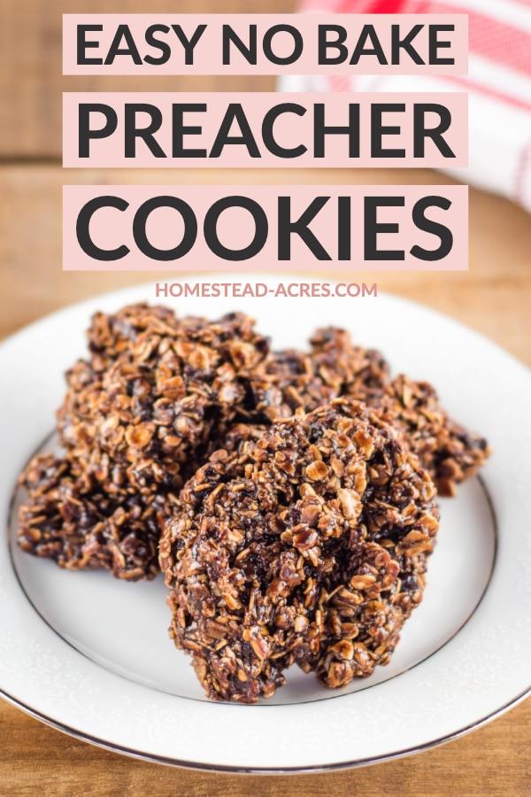 Easy No Bake Preacher Cookies