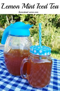 Lemon Mint Iced Tea- This quick and easy iced tea recipe is so refreshing on a hot summer day!