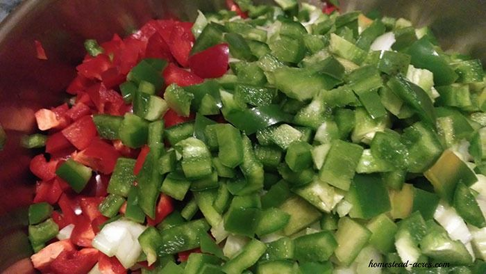Ingredients for Zucchini Relish