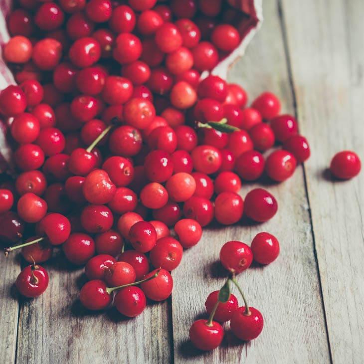 Homemade Cherry Pie Filling Cherries Close Up