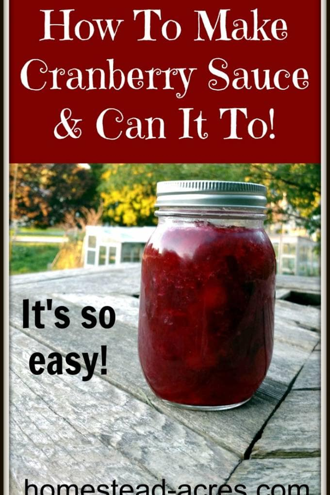 How to make cranberry sauce and can it to. | www.homestead-acres.com