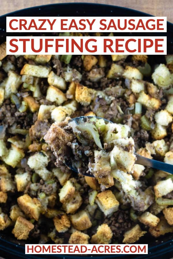 Crazy Easy Sausage Stuffing Recipe
