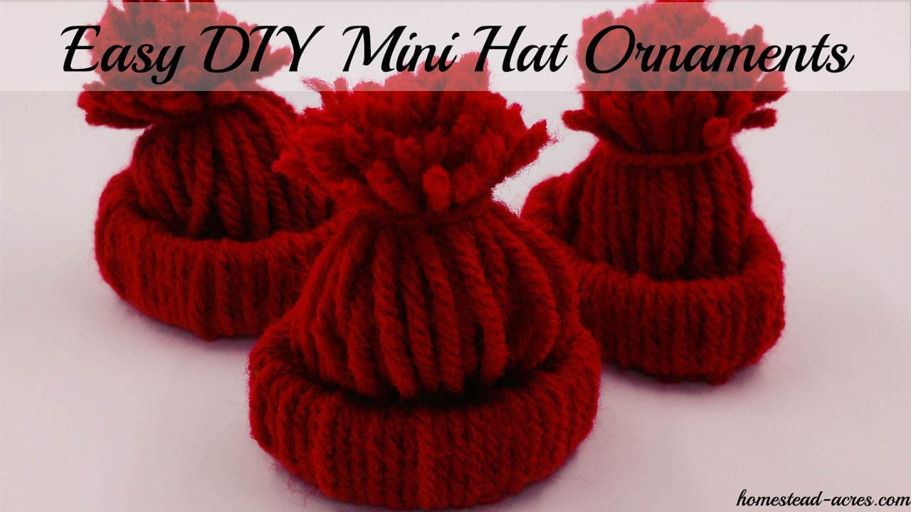 How To Make A Mini Winter Hat Christmas Ornament