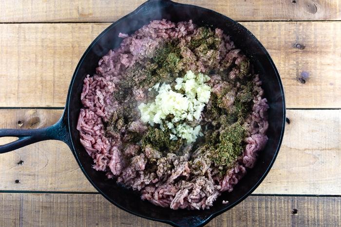 Ground Pork With Garlic And Herbs