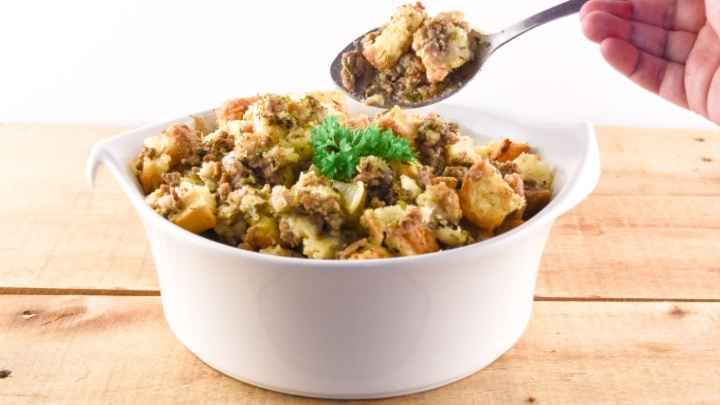 Homemade Sausage And Herb Thanksgiving Stuffing