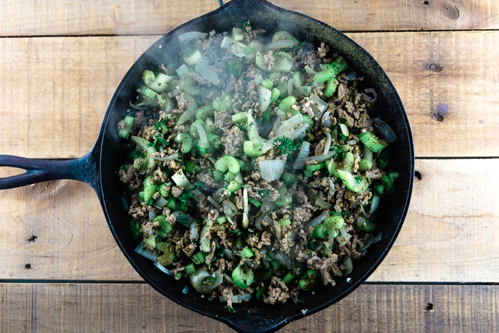 Sausage Mixture With Herbs And Celery