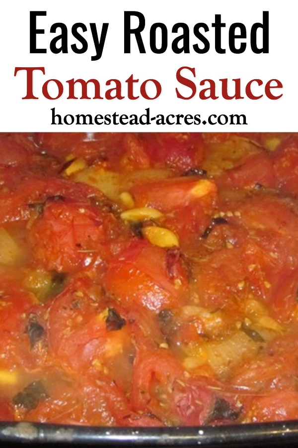 Roasted Tomato Sauce: This is the only tomato sauce I ever make! Learn how to make this easy homemade tomato sauce that you can use in all your tomato dishes! Perfect for freezing and canning too.