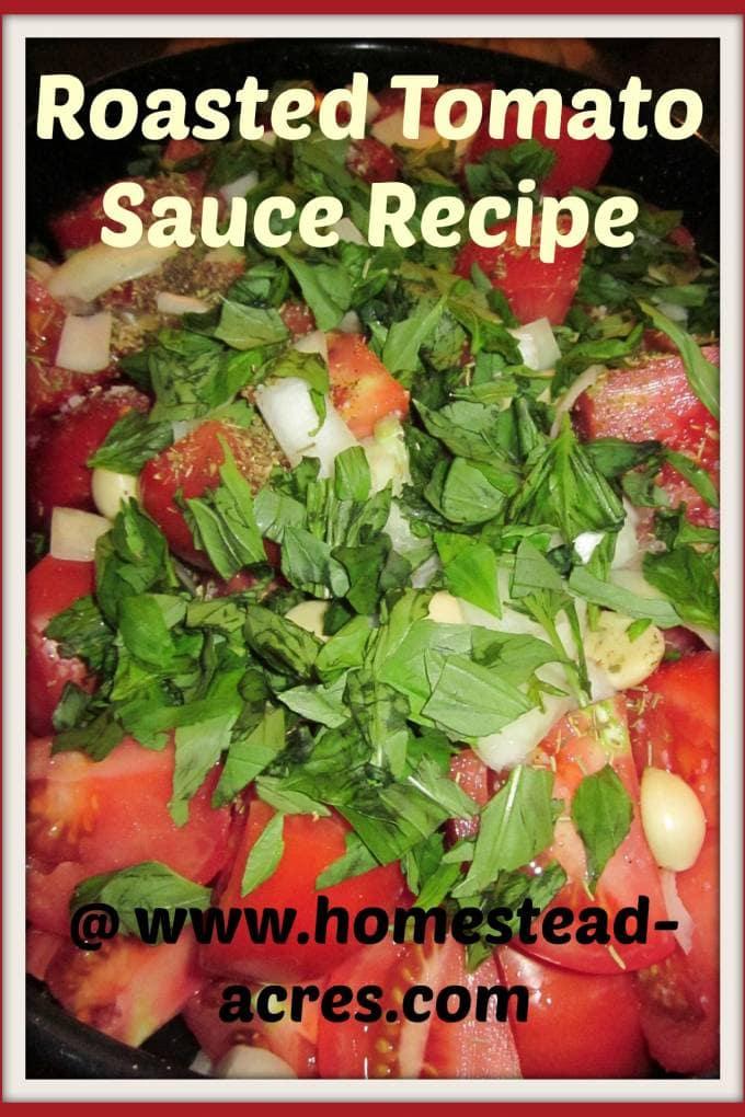 Roasted Tomato Sauce recipe | www.homestead-acres.com