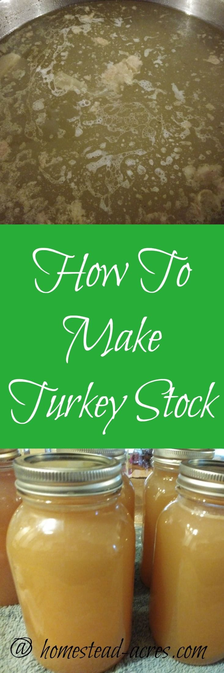 Making your own turkey stock
