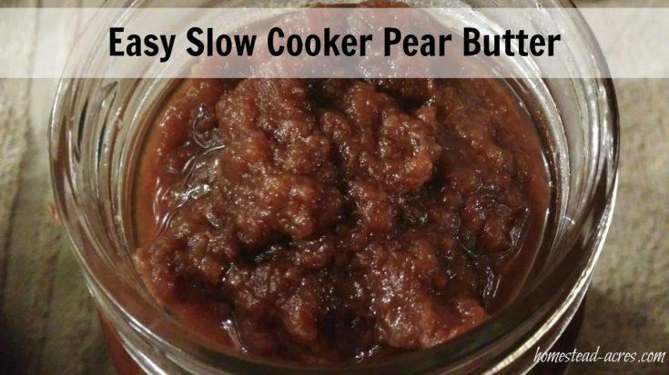 Easy pear butter recipe
