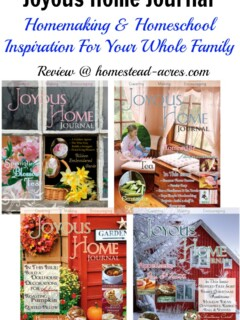 Joyous Home Journal is a beautiful christian homemaking magazine. It's filled with recipes, sewing and craft projects, wood working projects and inspiration! | www.homestead-acres.com