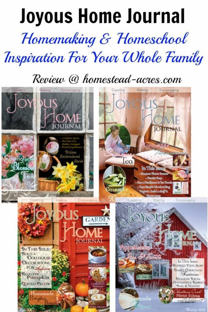 Joyous Home Journal A Beautiful Homemaking Magazine
