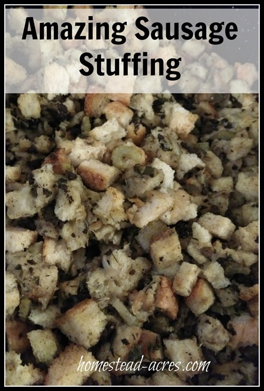 Amazing Sausage Stuffing Recipe | www.homestead-acres.com