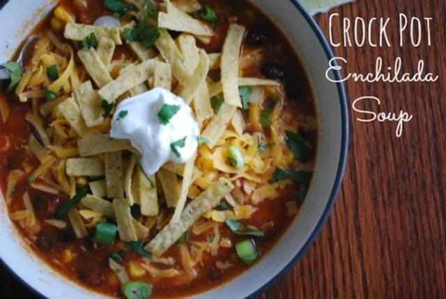 Crock Pot Enchilada Soup 3 The Gingered Whisk