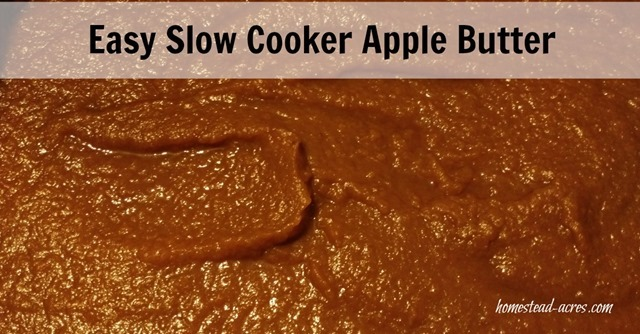 Easy Slow Cooker Apple Butter - Homestead Acres