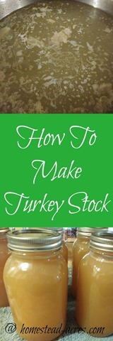 How to make a easy and delicious turkey stock. It's so easy to make and taste so much better then anything you can buy! | www.homestead-acres.com