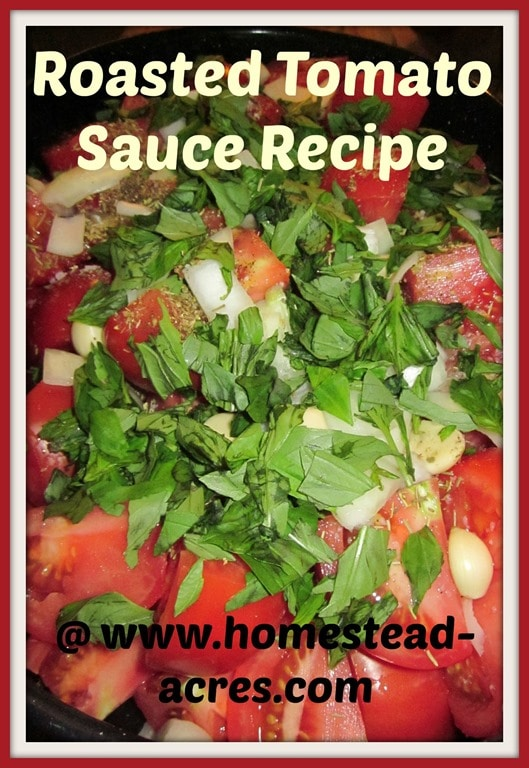 Roasted Tomato Sauce Recipe | www.homestead-acres.com