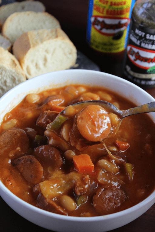 Sausage-and-Bean-Stew-with-El-Yucateco-Moms-Messy-Miracles
