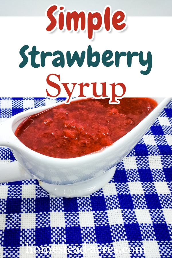 Simple Strawberry Syrup