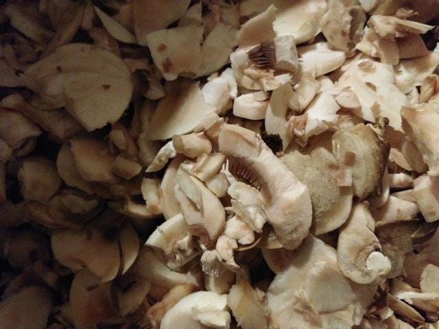 Sliced Mushrooms in a bowl | www.homestead-acres.com