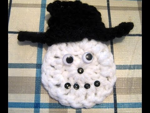 Crochet Snowman Ornament Free Pattern