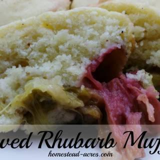 rhubarb muffins cover