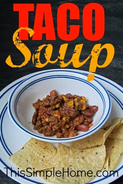 Taco soup recipe This Simple Home