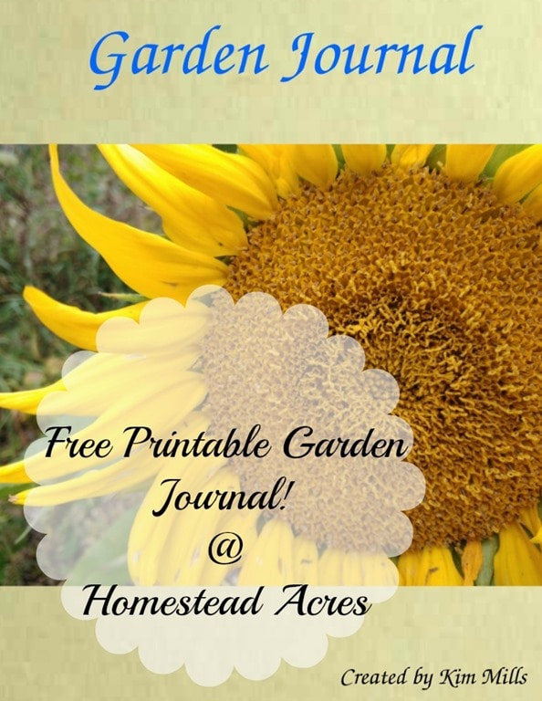 FREE Printable Garden Journal Homestead Acres