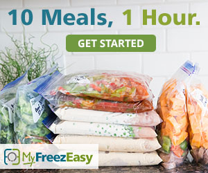 Prepare 10 meals in 1 hour with MyFreezEasy plans.