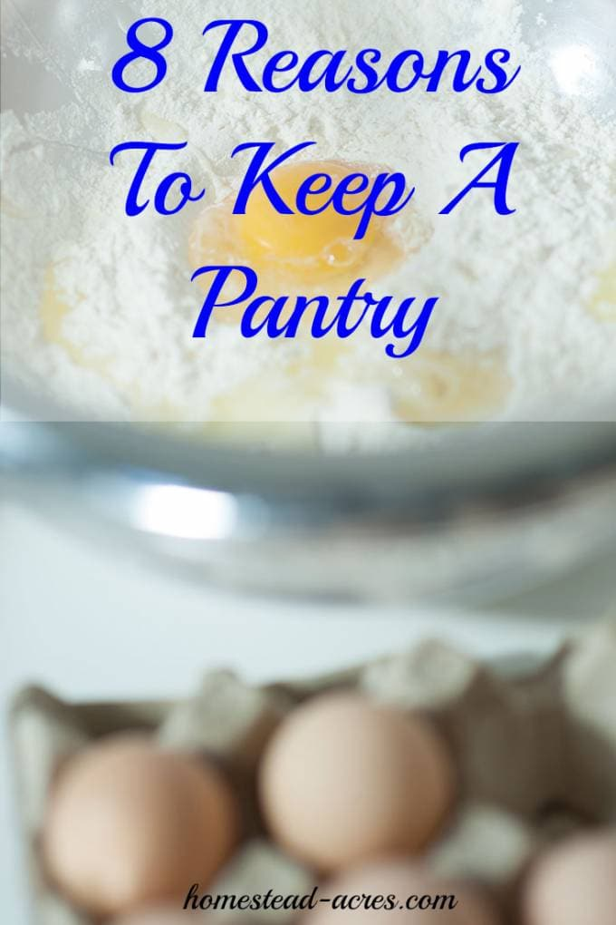 8 Reasons you need to keep a pantry in your home. | www.homestead-acres.com