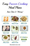 Easy Freezer Cooking Meal Plans To Simplify Your Day