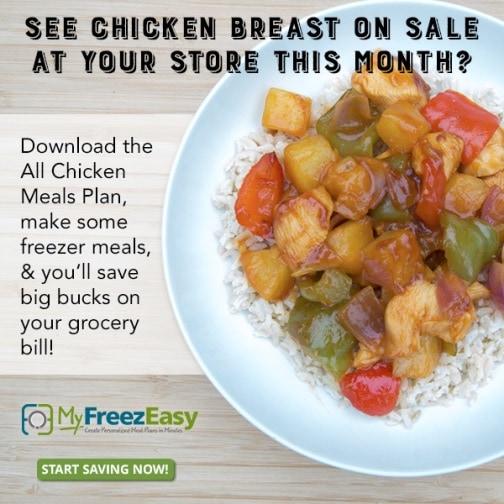 Chicken menu plans