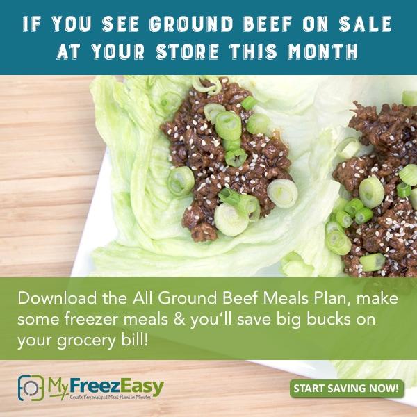 Beef menu plans