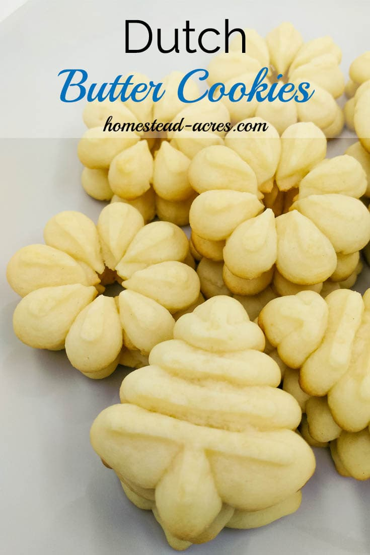 Perfect Dutch Butter Cookies. These cookies are rich and creamy a must have spritz cookie for your Christmas cookie trays.