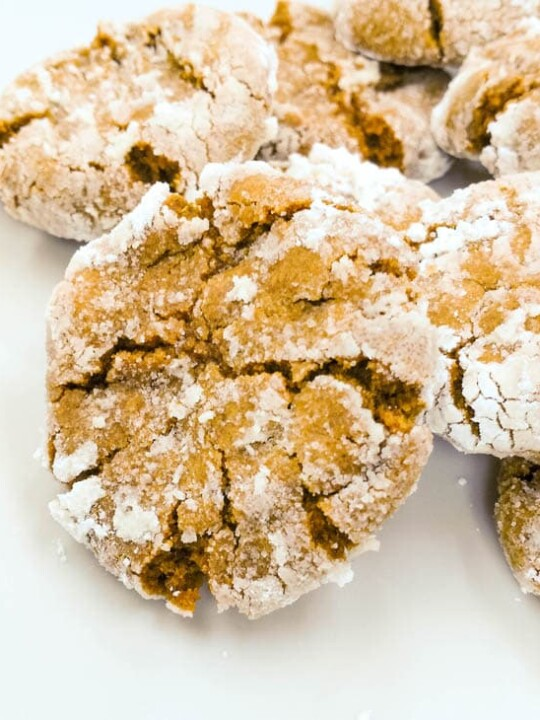 Easy ginger molasses crinkle cookies so soft and chewy