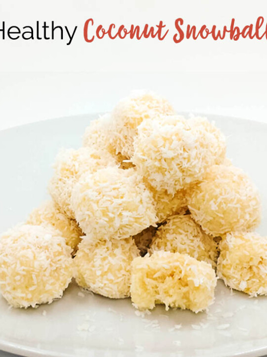 Healthy No Bake Coconut Snowball Cookies