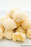 No bake snowball cookies with coconut | www.homestead-acres.com