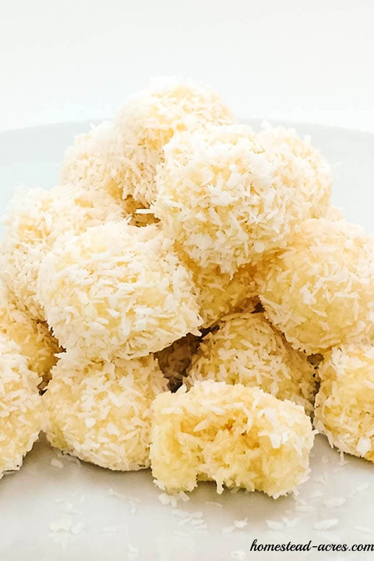 No bake snowball cookies with coconut   www.homestead-acres.com