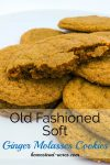 Old fashioned soft ginger molasses cookies. Quick and easy to make the dough doesn't require chilling! | www.homestead-acres.com