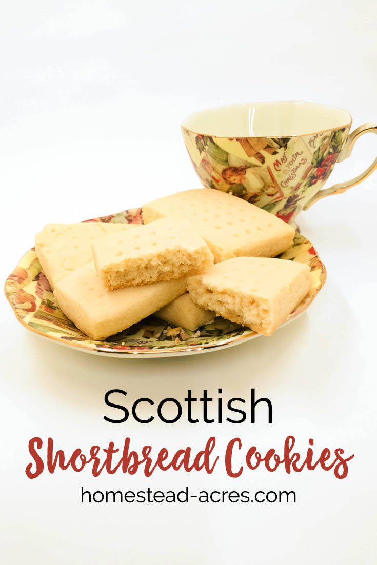 Classic Scottish shortbread cookies made with only 3 ingredients. This recipe is so simple and easy to make, you can whip up a batch of buttery Christmas treats in no time! #shortbreadcookies #scottishshortbread #christmascookies #Christmas