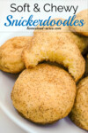 Soft and Chewy Snickerdoodles are so easy to make and you don't need to chill the dough before baking! | www.homestead-acres.com