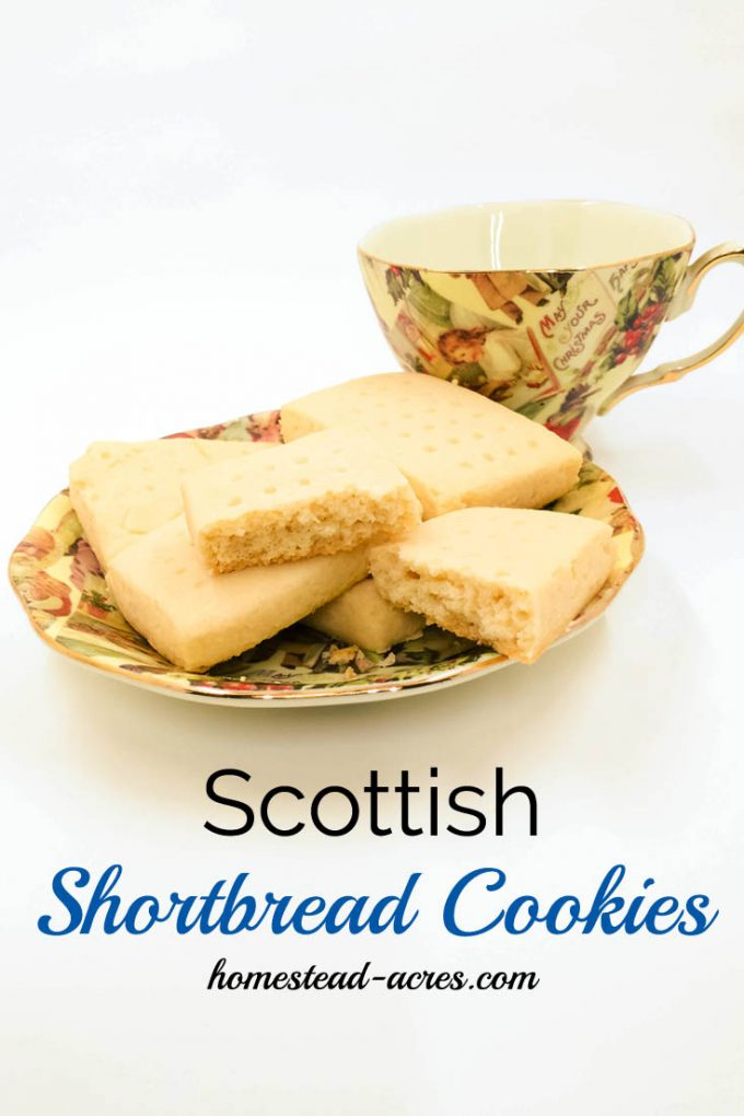 The Best Scottish Shortbread Cookies. With only 3 ingredients these melt in your mouth shortbread cookies are the perfect holiday treat! | www.homestead-acres.com