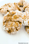 Thick and chewy Ginger molasses crinkle cookies | www.homestead-acres.com