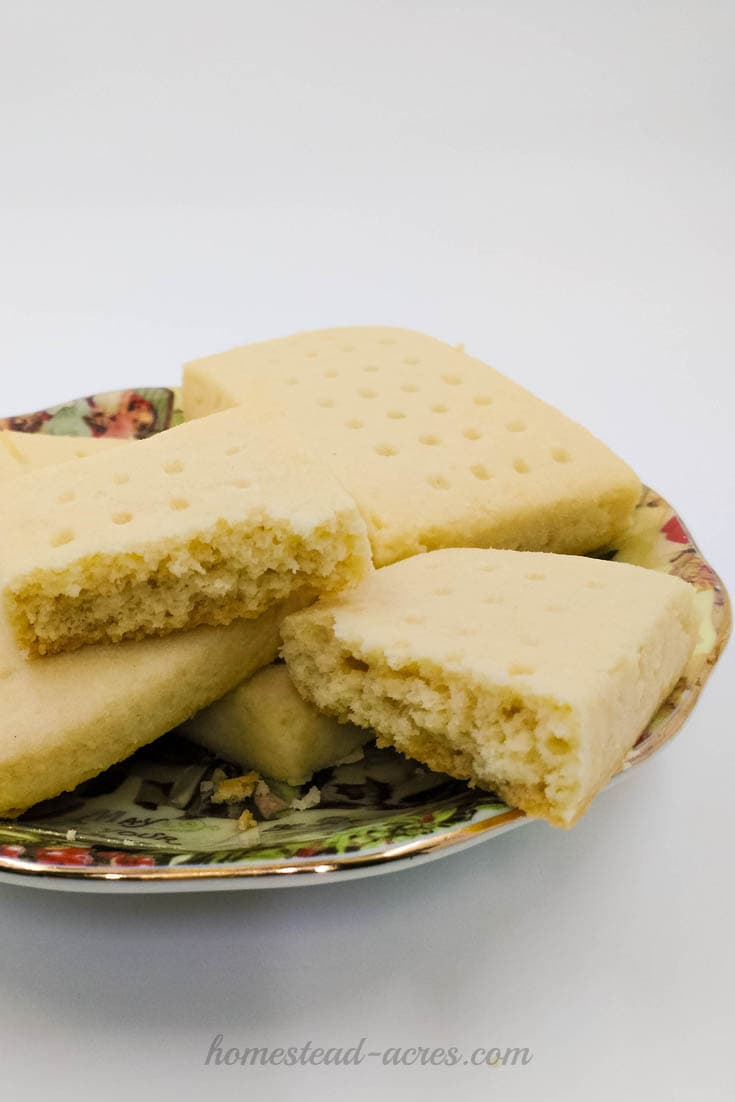 Melt your mouth shortbread cookies | www.homestead-acres.com