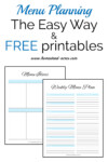 how to make a weekly meal plan the easy way. Includes free printable weekly menu planner and a meal idea form. | www.homestead-acres.com