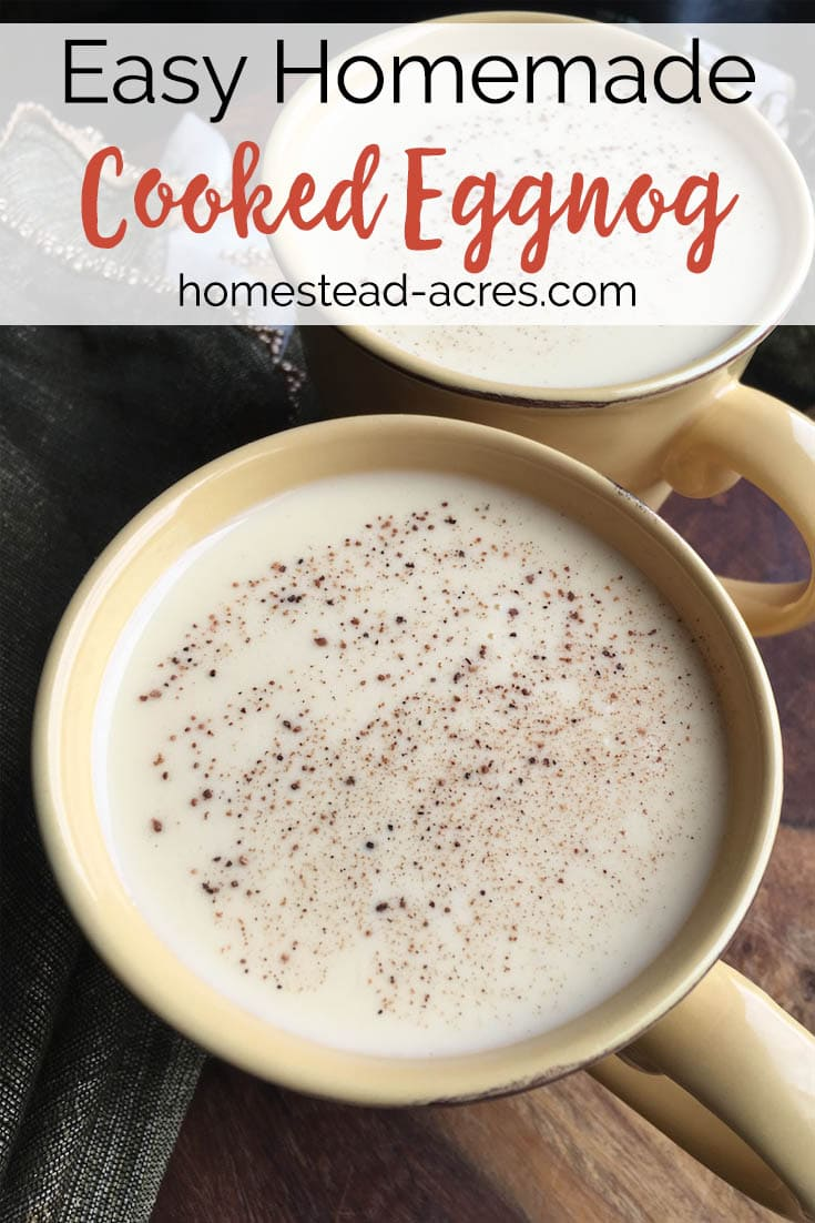 Rich, and creamy this non-alcoholic homemade eggnog recipe is so much better then any store bought type. No worries about using raw eggs either because this eggnog recipe is gently cooked. #eggnog #Christmas #nonalcoholic #holidaydrink