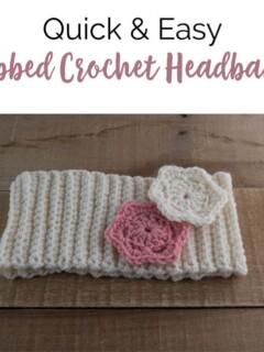 Easy crochet ribbed headband free pattern